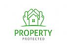 Haus Logo, Eigentum Logo, Immobilien Logo