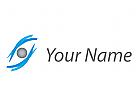 Optiker, Auge, abstrakt, Augenarzt Logo