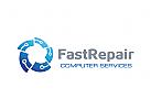 Internet Logo, Computer Logo, Reparatur Logo, Industrie Logo