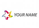 Stern, farbig, Multimedia Logo