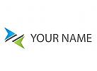 Zwei Pfeile, Ziel Logo
