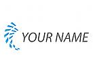 Zwei Spirale, Pixel, Rechtecke, Daten, Logo