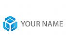 Würfel, Cube, Sechseck, Technologie Logo