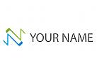 Initial, Buchstabe N, N Logo
