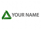 Modernes Logo, Initial, Buchstabe A, A