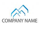 Vier Dächer, Häuser Logo