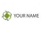 Rechteck, Kontakte, Chip, Platine Logo