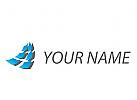 Zwei Welle, Pixel, Rechtecke, Daten, Logo