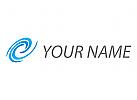 Spirale, Wellen, Linien Logo