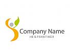Logo Mensch mit Blatt