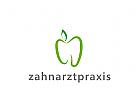 Logo Zahn in Apfelform