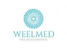 Wellness Logo, Medizin Logo, Blume Logo, Schönheit Logo