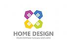 Immobilien Logo, Grundstücke, Architektur, Bau, Haus, Immobilienmakler, Makler Logo