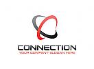 Verbindung Logo, Bahnen Logo, Daten Logo, Technologie Logo