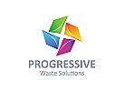 Recycling Logo, Abfall Logo, Umwelt Logo
