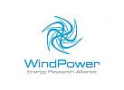 Wind Logo, Energie Logo, Windmühle Logo
