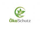 Ö Logo Hand, Öko, Eco, Pflege, Schutz