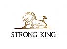 Löwe Logo, König Logo