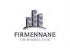Immobilien Logo, Grundstücke Logo, Architektur Logo, Bau Logo