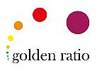 Logo im goldenen Schnitt, Spirale, Fibonacci Reihe