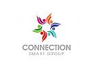 Menschen Logo, Gruppen Logo, Kinder Logo, Sozial Logo, Schule Logo