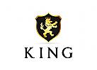 Hoheitsvoll Logo, Löwe Logo, König Logo, Krone Logo