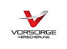 Buchstabe V Logo, Versicherung Logo, Immobilien Logo, Finance Logo