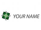 Würfel, Chip, Platine, Verbindungen, Logo