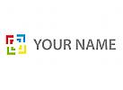 Rechtecke, Quader, farbig Logo