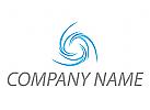 Spiralen, Wellen in blau Logo