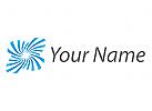 Wellen, Blume, Wellness, Kosmetik Logo