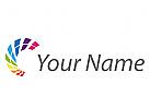 Viele Pixel, Rechtecke, Daten Logo
