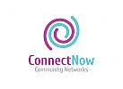 Verbindung Logo, Gruppe Logo, Software Logo, Pflege Logo