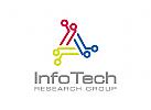Technologie Logo, Daten Logo, Industrie Logo