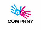 Logo, Buchstaben, Zahl, Hand