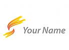Wellen, Spirale, Linien Logo