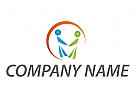 Zwei Personen, Paar Logo