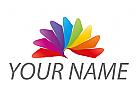 Spirale, Blume, farbig, Maler Logo