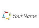 Ökologie, Zeichen, Zeichnung, Vier, Personen, Menschen, Team, Logo