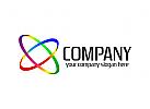 Orbit Logo, Medien Logo, Produktion Logo, Wissenschaft Logo, Labor Logo