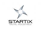 Industrie Logo, Technologie Logo, Stern Logo, Metall Logo
