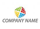 Würfel, Cube, farbig, Technologie Logo