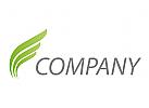 Pflanzen, Blätter, Wellen Logo