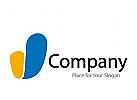 Logo zwei Farbflächen