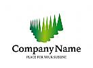 Logo abstrakte Bäume, Wald