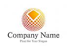 Logo Kreis in Quadraten