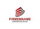 Immobilien Logo, Bau Logo