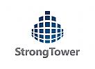 Immobilien Logo, Turm Logo