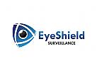 Schild Logo, Auge Logo, Sicherheit Logo