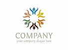 Menschen Logo, Blume Logo